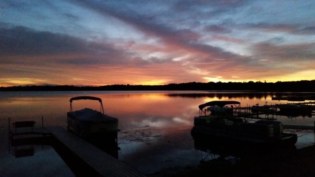 pontoons at a MN resort for sale