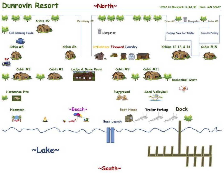 map Bemidji area resort for sale