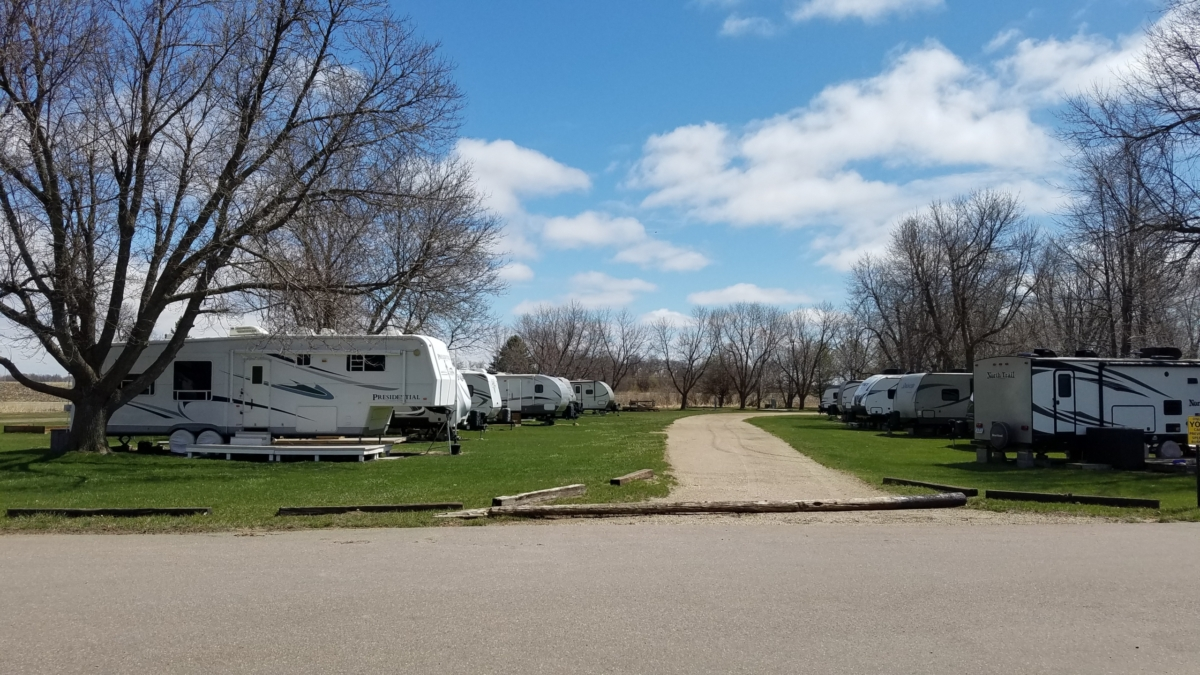 green grass Eastside Acres campground for sale