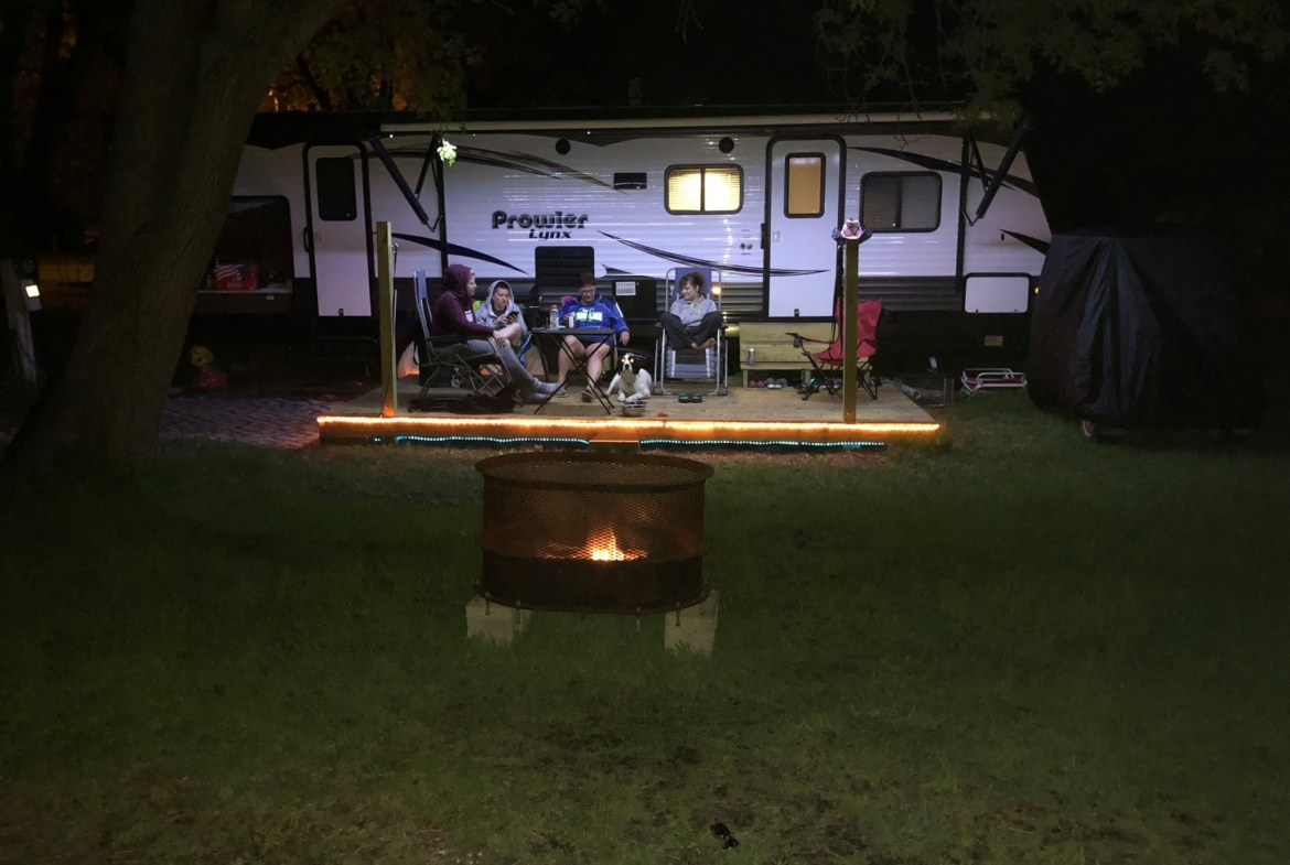 nightime campfire MN campground for sale